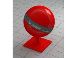 Red thermosetting plastic vray material