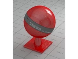 ABS engineering plastic - red vray material