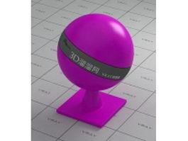 HDPE plastic - purple vray material