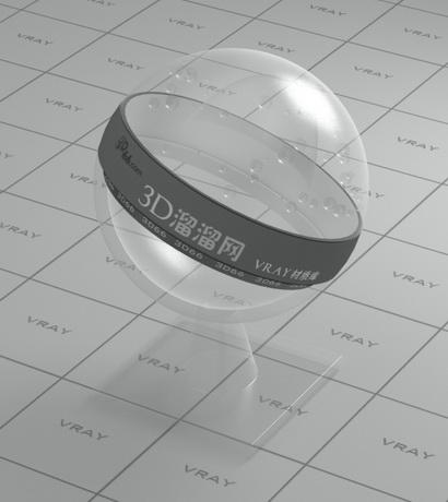 Transparent PVC plastic material rendering