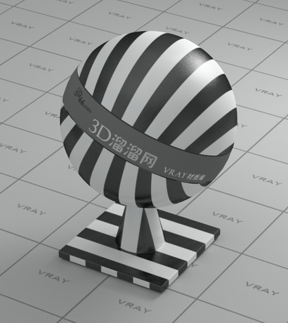 Plastic - black and white checker line vray material