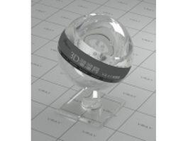 Optical quartz glass vray material