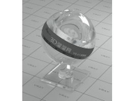 Clear optical glass vray material