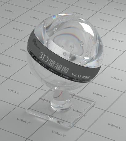Dispersion optical glass material rendering