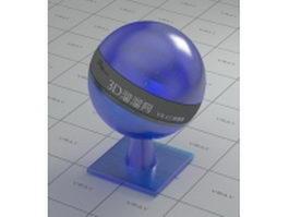 Aluminium silicate glass - blue vray material