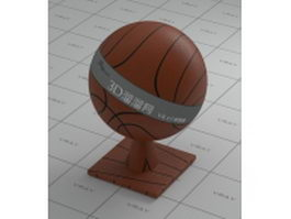 Basketball leather vray material