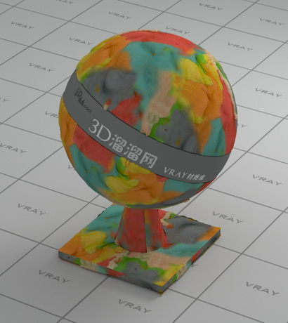 Colored Plasticine Vray Material Cadnav Com