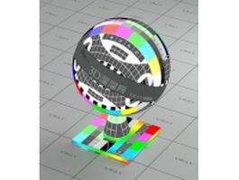 TV test pattern vray material