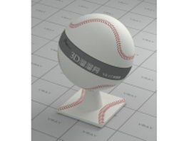 Baseball vray material