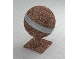 Soil block vray material