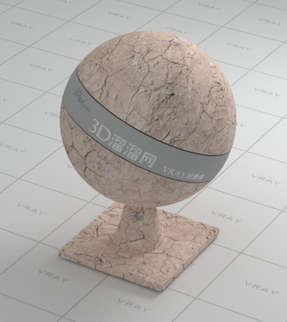 Dry earth vray material
