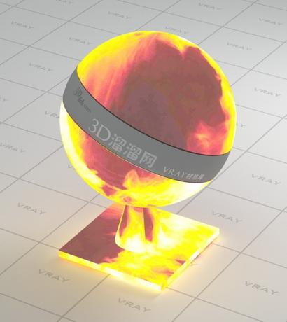 Roaring flame vray material