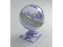 Overglaze decor ceramic vray material