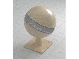 Shell beige marble vray material