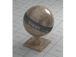 Gray brown marble vray material