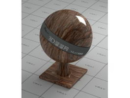 Rainforest brown marble vray material