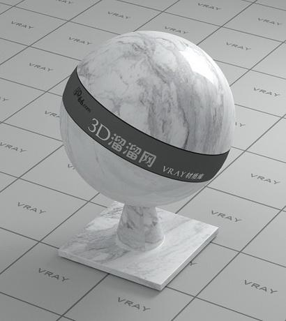 Calaeatta white marble material rendering