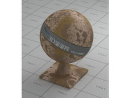 Metal-envelope rusty vray material