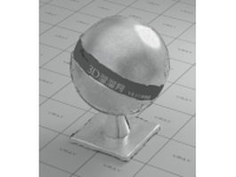 Tin-foil paper vray material