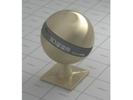 Steel brushed golden shell vray material