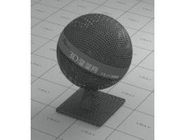 Gun color plating metal mesh - circular vray material