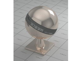 Mirror polished metal - rose gold vray material