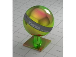 Colored glossy finish chrome vray material