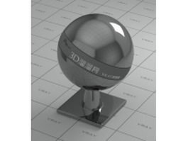 Mirror polished glossy metal - black vray material