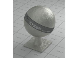 Titanium zinc alloy vray material