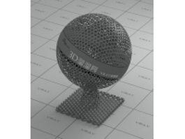 Ornamental metal mesh - cutout vray material