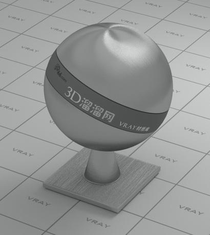 Grey-blue brushed steel material rendering