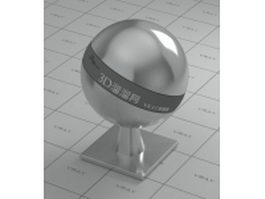 Polished stainless steel vray material