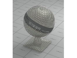 Perforated sheet metal vray material
