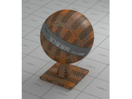 Rusty metal perforated plate vray material