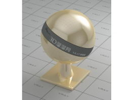 Polished musical brass vray material