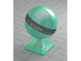 Metallic paint - green white vray material