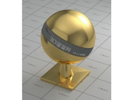 Mirror polished gold vray material