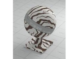 Zebra-stripe carpet vray material