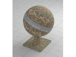 Persian carpet - European flower patterns vray material
