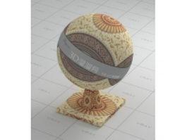 Afghan bokhara rug vray material