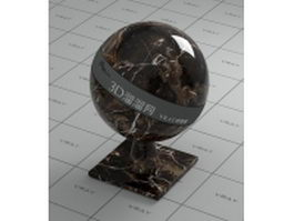 Antique dark brown marble vray material