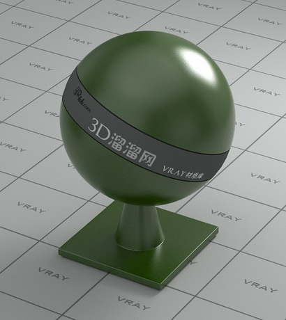Dark olive green glazed porcelain material rendering
