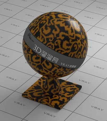 Ceramic mosaic pattern - black and yellow mixed material rendering