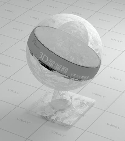 White seersucker fabric vray material