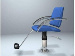 Floor mounted barber chair 3d model