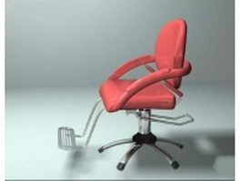 Adjustable rotate barber chair 3d model