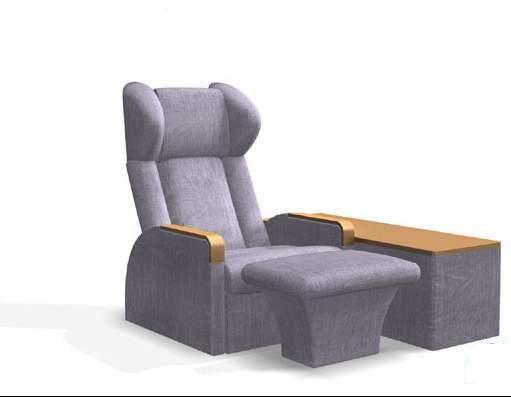 Massage chair equipment 3d model - 32.8KB