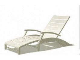 White sun loungers 3d model