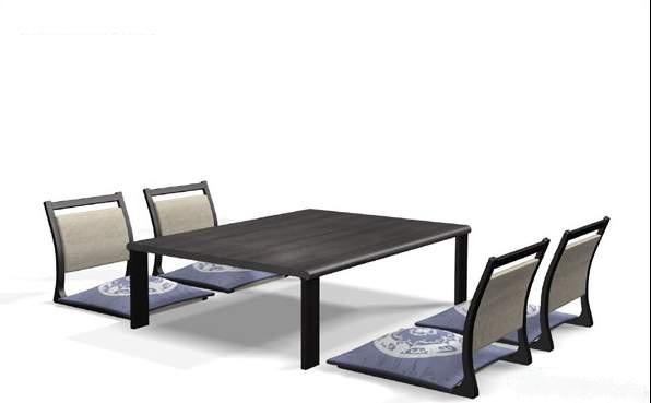 Japanese Style Bar Furniture Sets 3d Model