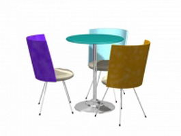 Office coffee table sets 3d model